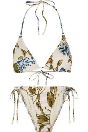 ZIMMERMANN Women Bikinis - Aliane floral-print halterneck bikini