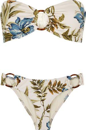 ZIMMERMANN Women Bikinis - Aliane floral-print bandeau bikini