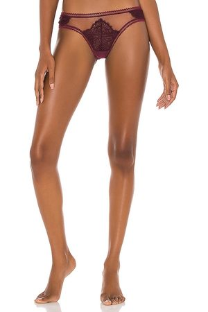 Thistle and Spire Women Thongs - Eyelash Lace Mirage Thong in Purple.