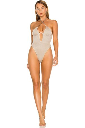 lovewave Women Swimsuits - The Driza One Piece in Metallic Neutral.