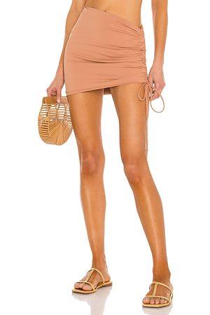 L*Space Women Mini Skirts - X REVOLVE Isla Skirt in Brown.