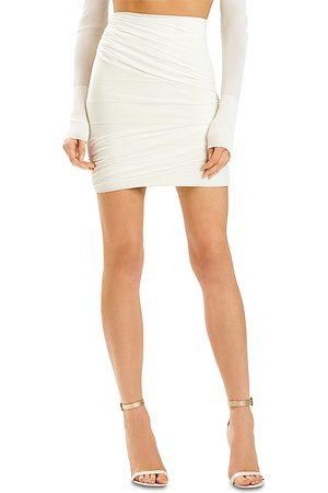 Hervé Léger Women Mini Skirts - X Julia Restoin Roitfeld Mesh Overlay Ruched Mini Skirt