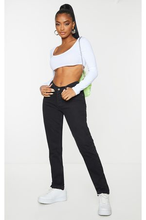 PRETTYLITTLETHING Shape V Front Waistband Straight Leg Jeans