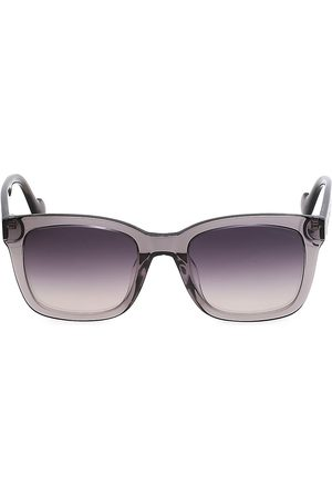 Moncler Men's 55MM Square Sunglasses - Grey Other Smoke Mirror