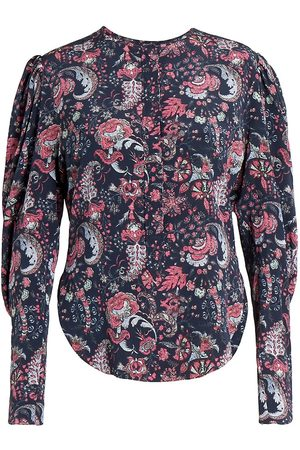 Isabel Marant Women Nightdresses & Shirts - Women's Bavali Floral Blouse - Faded Night - Size 0