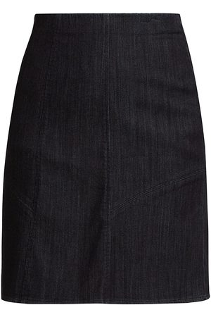NIC+ZOE Women's Stretch Denim Pencil Skirt - Dark Denim - Size Large