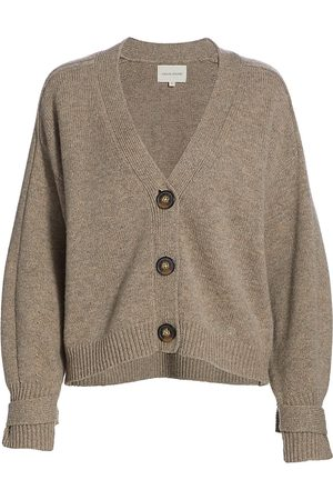 Loulou Studio Women's V-Neck Cardigan - Ashes Melange - Size XS