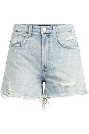 Joes Jeans Women's The Sadie Distressed Denim Shorts - Bloom - Size 32