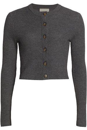 Loulou Studio Women's Cropped Cardigan - Anthracite Melange - Size XS