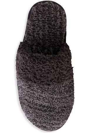 Barefoot Dreams Women's The CozyChic Coastal Slipper - Heather Carbon Graphite - Size Medium