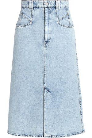 Isabel Marant Women's Dipoma Denim Midi Skirt - Light - Size 0