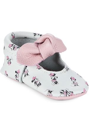 Freshly Picked Baby Girl's All About Minnie Knotted Bow Mini Sole Moccasins - All About Minnie - Size 3 (Baby)