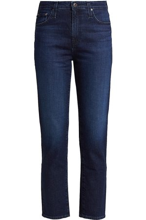 AG Jeans Women's Isabelle High-Rise Straight Crop Jeans - Santa Rosa - Size 32
