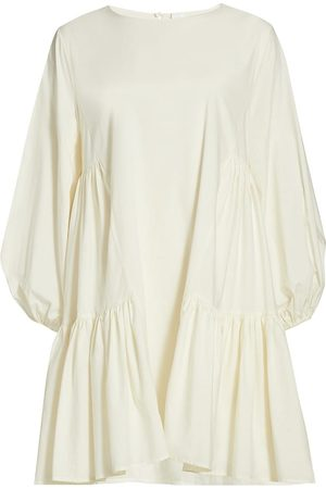 MERLETTE Women's Byward Tiered Dress - Ivory - Size XL