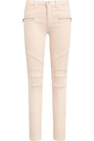Hudson Women's Barbara Super Skinny Moto Jeans - Pearl Blush - Size 30