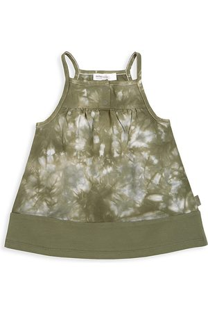 Miles Baby Baby Girl's Tie Dye Summer Camp Dress - Khaki - Size 12 Months