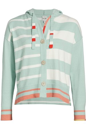 NIC+ZOE Women's Striped Recycled Yarn Hoodie - Multi - Size Large
