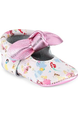 Freshly Picked Baby Girl's Princesses Knotted Bow Moccasins - Princesses - Size 3 (Baby)