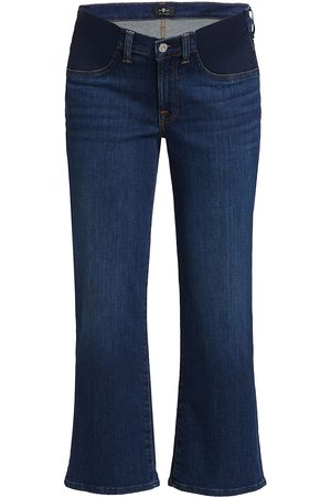7 for all Mankind Women's Maternity Cropped Alexa Jeans - Fletcher - Size 30