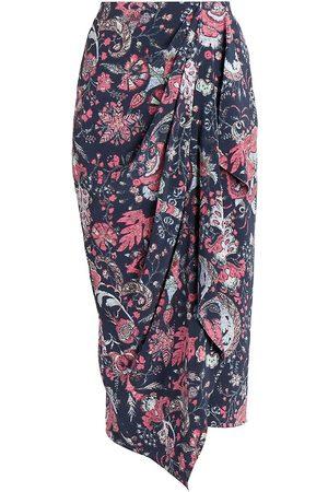 Isabel Marant Women's Bree Floral Midi Skirt - Faded Night - Size 8