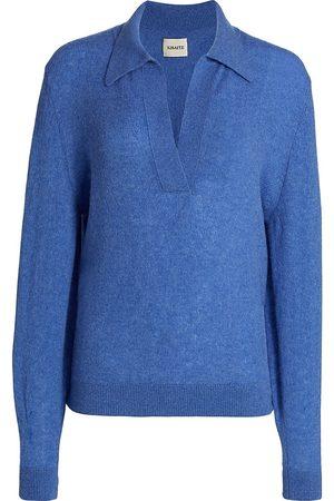 Khaite Women's Jo Cashmere Pullover Sweater - Sky - Size Medium