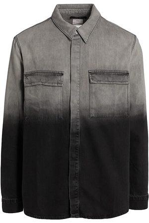 KSUBI Men's Snakebite Ombré Denim Shirt - Grey - Size XXL
