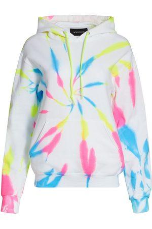 Myrrhe Women's Neon Tie-Dye Hoodie - Cyclone - Size Small