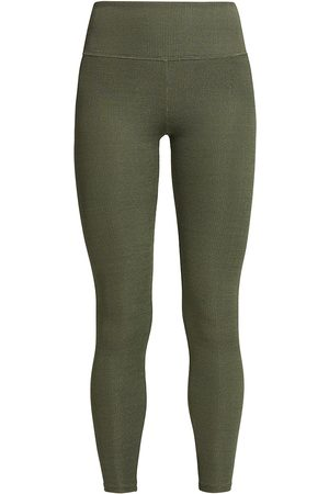twenty Women's Colorsphere Ribbed Leggings - Army - Size Large