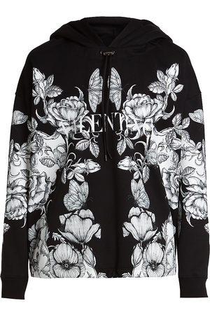 VALENTINO GARAVANI Men's Dark Blooming Hoodie - Nero Dark Blooming - Size XL