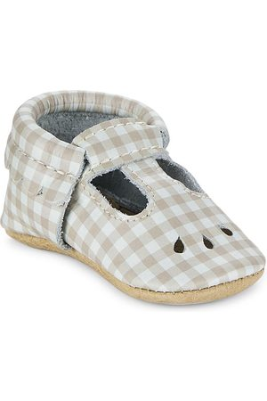 Freshly Picked Baby Girl's Almond Gingham Mary Jane Leather Shoes - Almond Gingham - Size 3 (Baby)