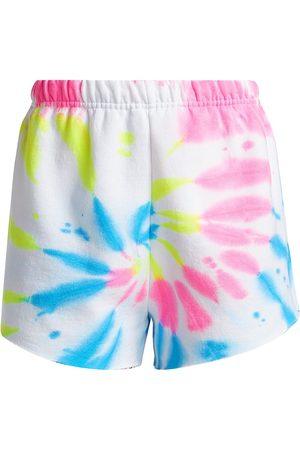 Myrrhe Women's Neon Tie-Dye Shorts - Cyclone - Size Small