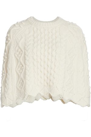 Loulou Studio Women's Wool And Cashmere Cape - Ivory - Size Large