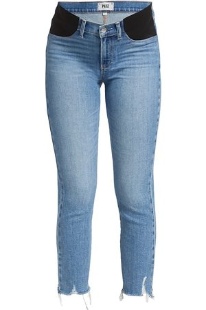 Paige Women's Maternity High-Rise Destroyed Straight Jeans - - Size 27