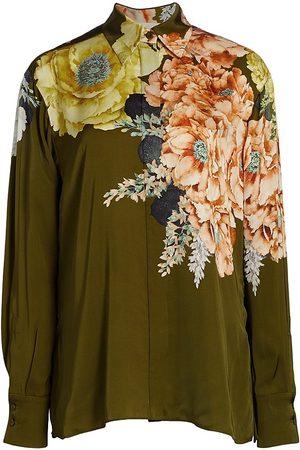 Jason Wu Women's Bouquet Floral Button-Up Blouse - Top - Size 2