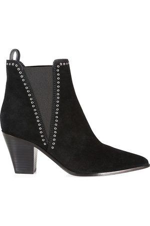 Paige Women's Lauren Grommet Suede Ankle Boots - - Size 10
