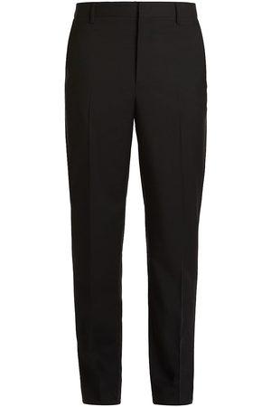 VALENTINO GARAVANI Men's Wool & Mohair Straight-Fit Pants - Nero - Size 38