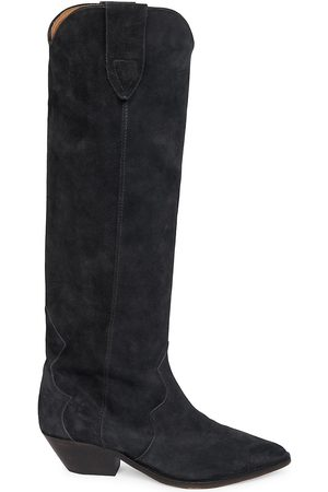 Isabel Marant Women's Denvee Suede Tall Western boot - Faded - Size 11