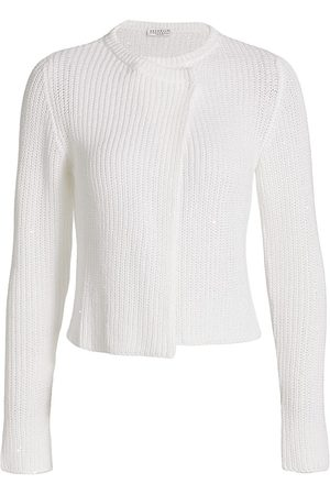 Brunello Cucinelli Women's Sequin Detail Long Sleeve Top - - Size XL