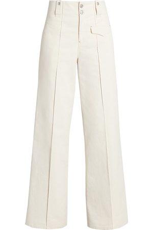 Isabel Marant Women's Dilemony Flare Trousers - Ecru - Size 8