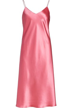 Adriana Iglesias Women's Jadi Silk Slip Dress - Rose Silk Satin - Size 8