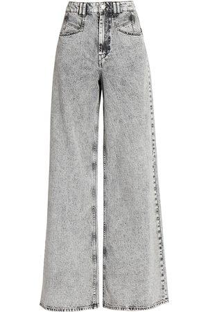 Isabel Marant Women's Lemony Flare Jeans - Light Grey - Size 0