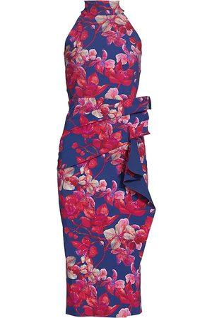 CHIARA BONI Women's Floral Halter Dress - Wild Narcissus - Size 8