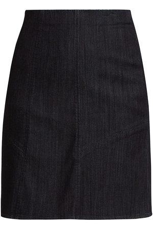 NIC+ZOE Women's Stretch Denim Pencil Skirt - Dark Denim - Size Petite Medium