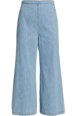 RACHEL COMEY Women's Absolute Wide-Leg Denim Pant - Celeste - Size 8
