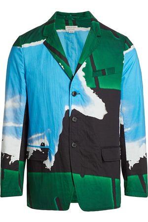 DRIES VAN NOTEN Men's Graphic Cotton Blazer - - Size 42