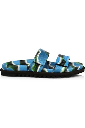 DRIES VAN NOTEN Men's Graphic Slides - - Size 6 Sandals