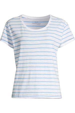 Vineyard Vines Women's Striped Cotton Jersey Surf tee - Ocean Breeze Stripe - Size Small