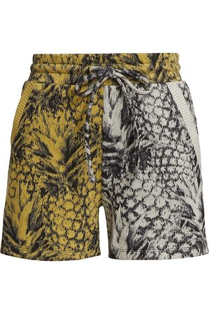 twenty Women's Pineapple-Print Hyper Reality Colorblock Shorts - Size Small