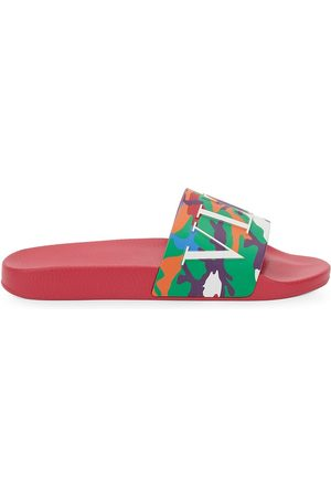 VALENTINO GARAVANI Men's VLTN Multi Camo Pool Slides - - Size 6 Sandals