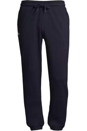 Lacoste Men's Solid Sweatpants with Drawstring - Navy - Size XXL